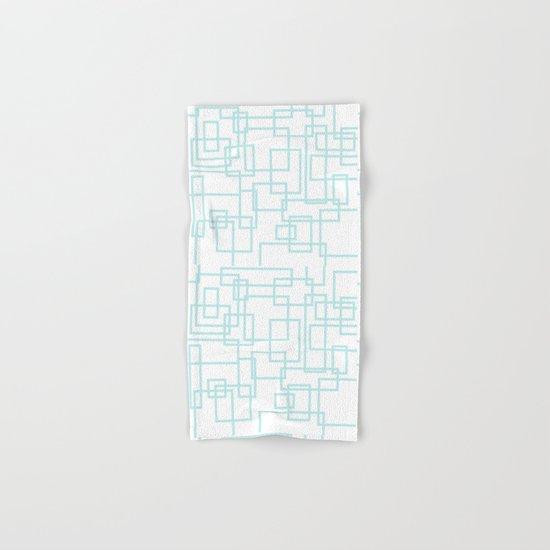 Geometric abstract pattern - light aqua Hand & Bath Towel