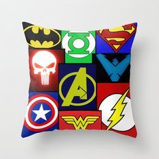 Logo Panel Throw Pillow