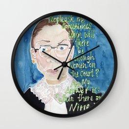 Ruth Bader Ginsbrug Wall Clock