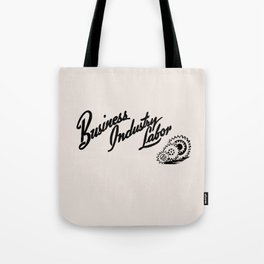 Business Industry Labor with Gears in Black Tote Bag