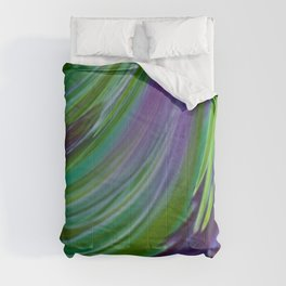 Purple Green Contemporary Abstract Comforters