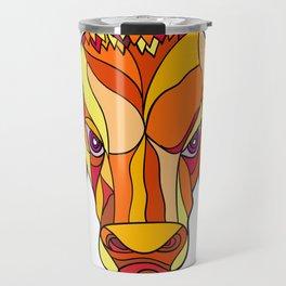 Brahma Bull Head Mosaic Color Travel Mug