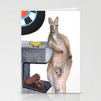 kangaroo Stationery Cards featuring Kangaroo by Big AL