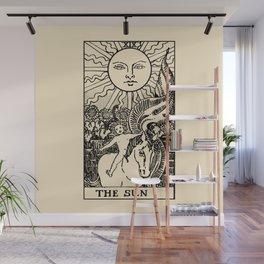XIII. The Sun Tarot Card on Parchment Wall Mural