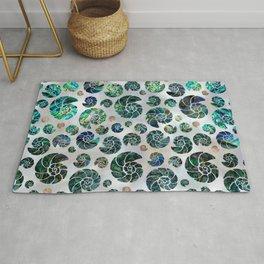 Sea shells pattern Abalone Rug