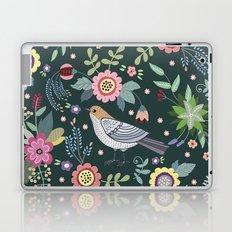 Pattern with beautiful bird in flowers Laptop & iPad Skin