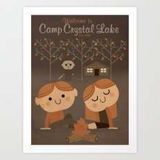 welcome to camp crystal lake Art Print