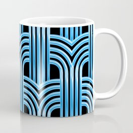McCool Blue 3-D Graphic Design Pattern Coffee Mug