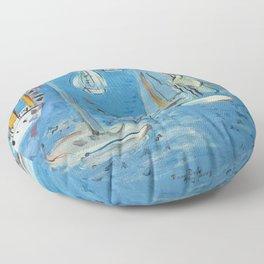 Raoul Dufy Sailboats Floor Pillow