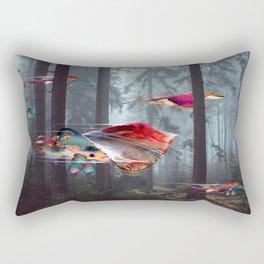 Electric Stingray World Rectangular Pillow