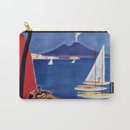 Napels Italy retro vintage travel ad Carry-All Pouch