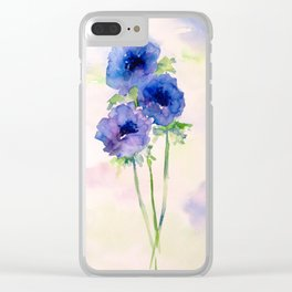 Vernal blue Clear iPhone Case