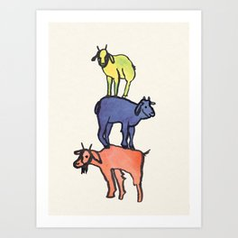 3 Billy Goats Up Art Print