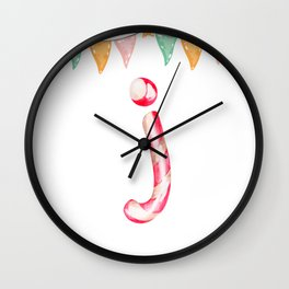 Letter J - name / surname initial Wall Clock