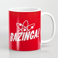 bazinga Mugs featuring Atom Bazinga! by Nxolab
