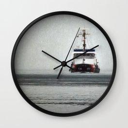 USCG Biscayne Bay in fog Wall Clock