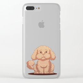 Strong Dogstache Clear iPhone Case