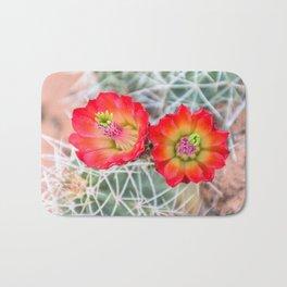 Mojave Mound Cactus Flowers Bath Mat