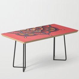 Red Mandala Coffee Table