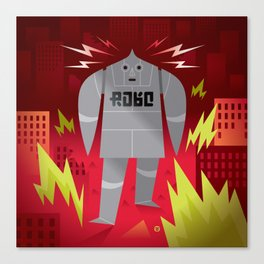 Robo! Destroy! Canvas Print