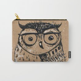 owl with glasses Carry-All Pouch
