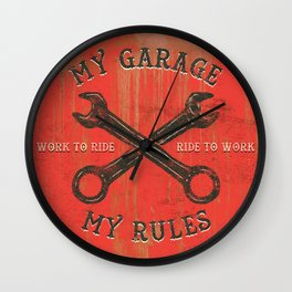 My garage Wall Clock