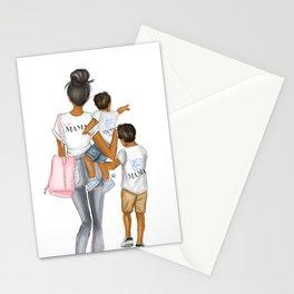 I got it from my mama 2 boys dark hair dark skin Stationery Cards