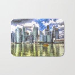 Singapore Marina Bay Sands Art Bath Mat