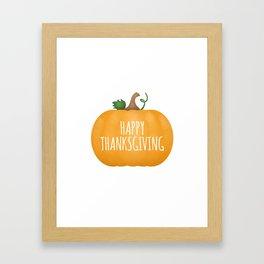 Happy Thanksgiving | Pumpkin Framed Art Print