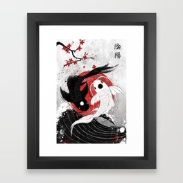 Koi fish - Yin Yang Framed Art Print