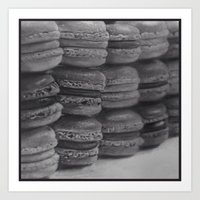 macaroons Art Prints featuring macaroons by Amit Naftali