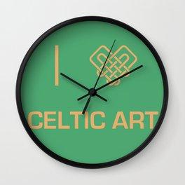 I heart Celtic Art Wall Clock