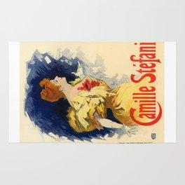 Belle Epoque vintage poster, Camille Stefani Rug