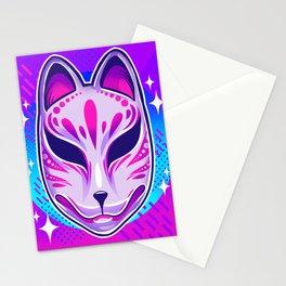 Neon Noh - Kitsune Stationery Cards