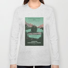 Jasper National Park Poster Long Sleeve T-shirt