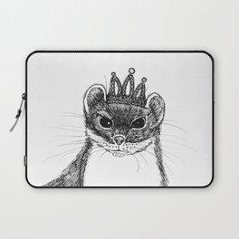flapper weasel wearing a glittering tiara Laptop Sleeve