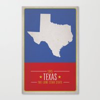 texas Canvas Prints featuring TEXAS by Matthew Justin Rupp
