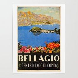 Italy Bellagio Lake Como Poster