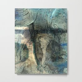Spyglass // abstract texture painting Metal Print
