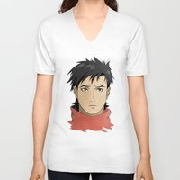 law V-neck T-shirts featuring Vincent Law by XDimov