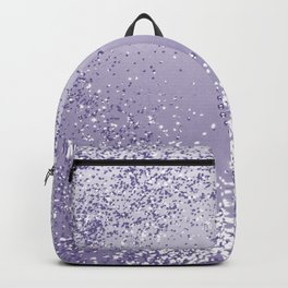 Sparkling ULTRA VIOLET Lady Glitter Heart #1 #decor #art #society6 Backpack