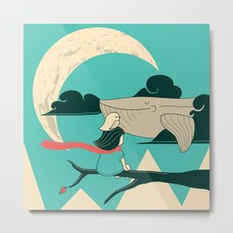 Did you see the whale in flight Metal Print