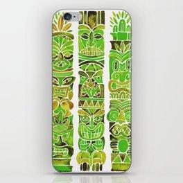Tiki Totems – Green iPhone Skin