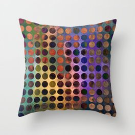 MELANGE of VIOLET and RUST Throw Pillow