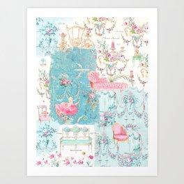 Marie Antoinette, Versailles, Tattered and Torn Art Print