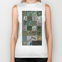 maps Biker Tanks featuring Google Maps Alphabet by Rhett