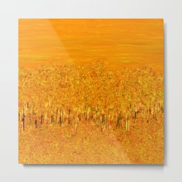Tigers in Fields of Marigold Metal Print