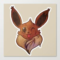 eevee Canvas Prints featuring EEVEELUTION! - EEVEE by Iris-sempi