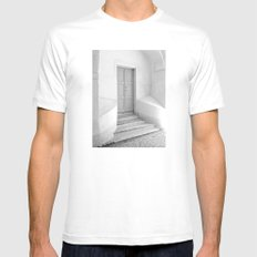 The Grey Door | Monochrome Entrance | Mens Fitted Tee MEDIUM White