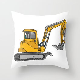 Digger excavators dredger Throw Pillow